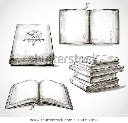 オープン ヴィンテージ 図書 ブックマーク ポスター 学校 ストックフォト © krabata