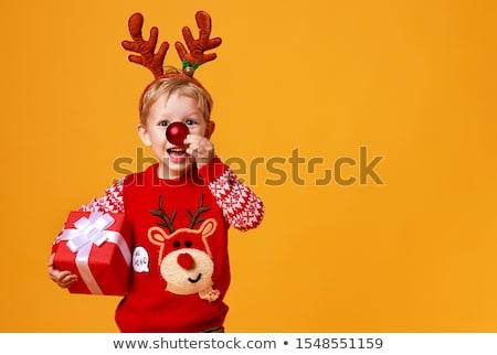 Navidad · nino · sesión · dentro · antiguos - foto stock © talanis