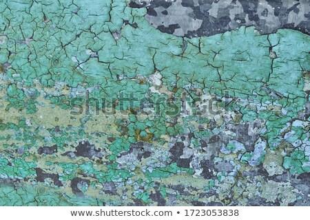 Zielone niebieski metal tablicy arkusza farby Zdjęcia stock © Melvin07