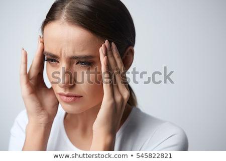 tête · douleur · blanche · chiffre · cerveau · numérique - photo stock © wavebreak_media