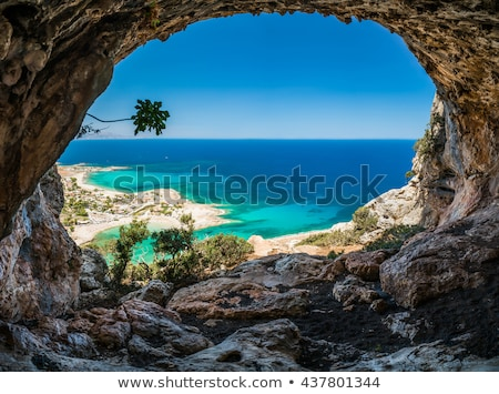 summer sea landscape elounda crete greece stock photo © dashapetrenko