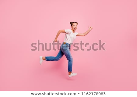 Side view of girl running Stock photo © zzve