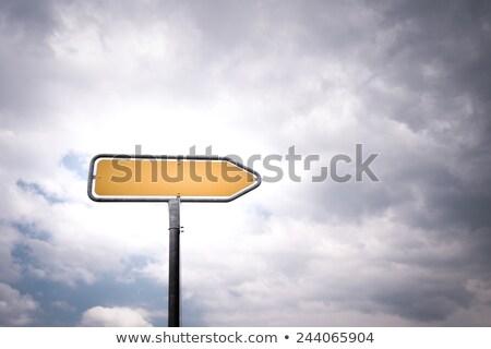 улице подписать направлении облачный небе дороги помочь Сток-фото © stevanovicigor