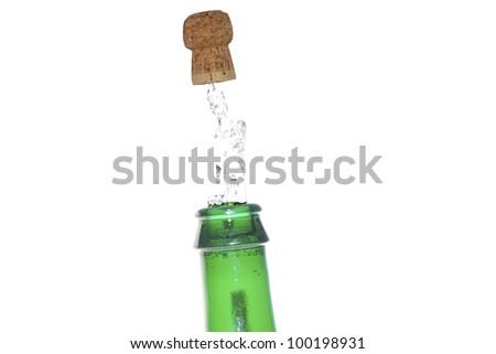 champanhe · cortiça · garrafa · fogos · de · artifício · vinho - foto stock © thomaseder