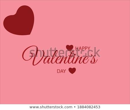 Piękna szczęśliwy walentynki karty serca tekst Zdjęcia stock © bharat