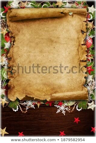 Spice vecchio foglio carta isolato bianco Foto d'archivio © brulove