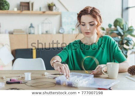 Beautiful young woman with chaplet  Stock photo © Nejron