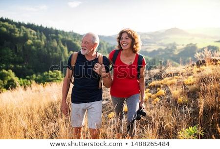 idős · pár · vidék · séta · unokák · nő · család - stock fotó © monkey_business