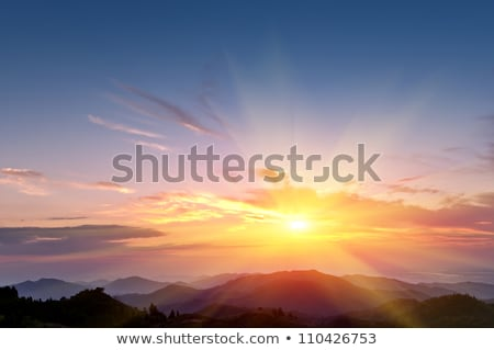 beautiful sunset and sky on mountain Stock photo © tungphoto