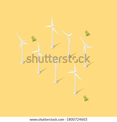 clean green energy wind turbines alternative desert power stock photo © cboswell