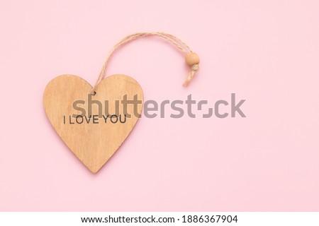 ピンク 木製 愛 心 愛する 2 ストックフォト © morrbyte