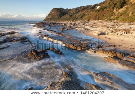 Praia newcastle Austrália segundo cidade numeroso Foto stock © jeayesy