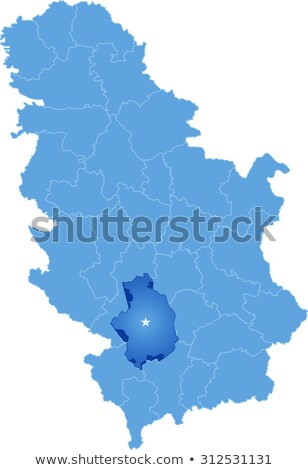 Stock photo: Map of Serbia, Subdivision Kosovska-Mitrovica District