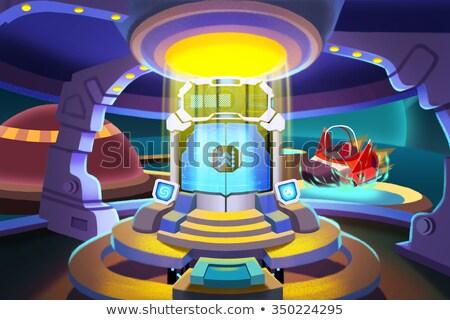 Nino magia puerta fantástico mundo ilustración Foto stock © carbouval