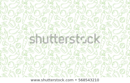 doodle pattern of vegetables stock photo © netkov1
