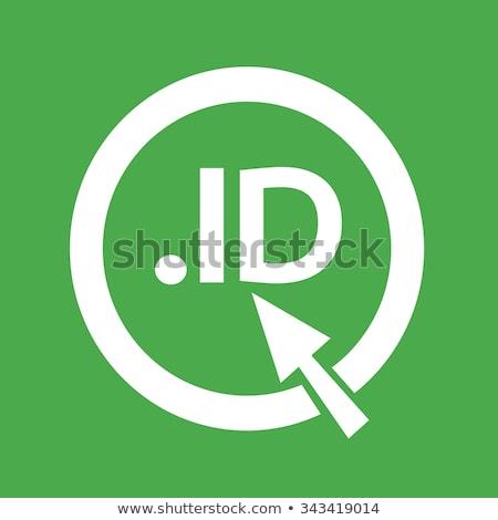 Indonesia Domain dot ID sign icon Illustration Stock photo © kiddaikiddee