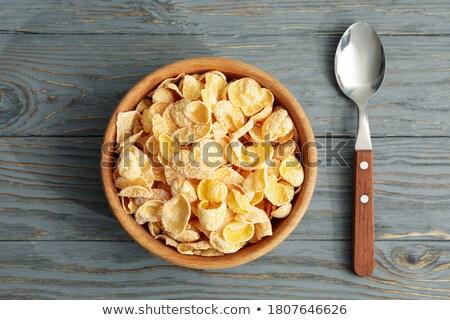 Müsli kaşık yalıtılmış beyaz gıda yeme Stok fotoğraf © ajt
