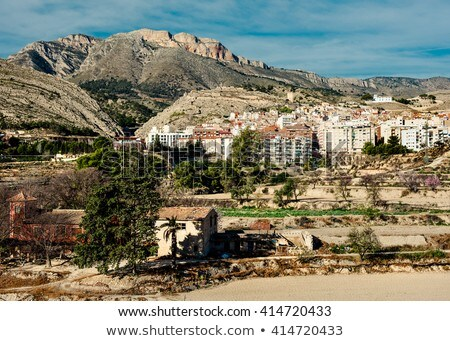 Scenic rocky mountains in Jijona. Alicante province, Spain Stock photo © amok