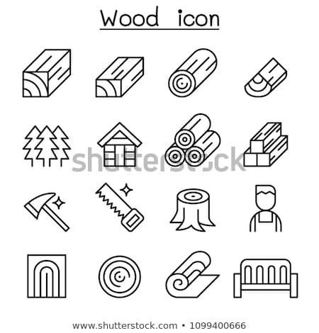 Timmerhout iconen illustratie verschillend kleur technologie Stockfoto © bluering