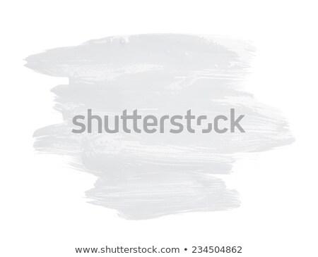 Joghurt krém ecset háttér művészet fehér Stock fotó © bluering