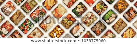 Catering comida casamento festa tabela salsicha Foto stock © drobacphoto