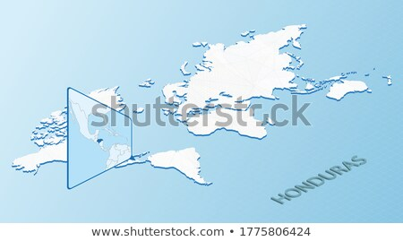 Isometric map of Honduras detailed vector illustration Stock photo © tkacchuk
