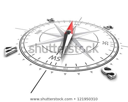 Cartes boussole GPS équipement isolé blanche Photo stock © zurijeta