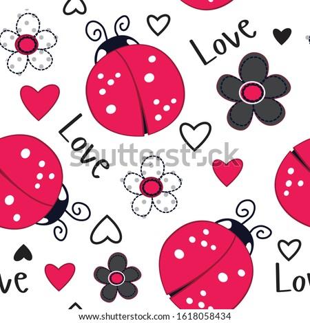 Mariquitas amor ilustración novia rojo funny Foto stock © adrenalina
