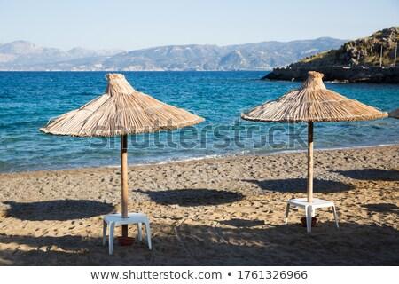 luz · do · sol · ícone · praia · ondas · quente - foto stock © ssuaphoto