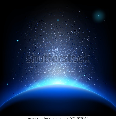 Earth - sunrise in deep blue space. EPS 10 Stock photo © beholdereye