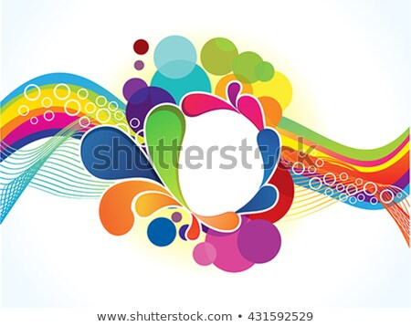 abstract artistic colorful wave explode Stock photo © pathakdesigner