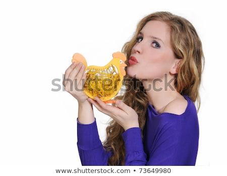 целоваться · Пасху · куриные · молодые - Сток-фото © mmarcol