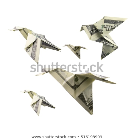 origami bird from banknotes Stock photo © butenkow