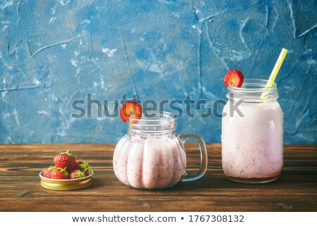 Blender with red lid Stock photo © bluering