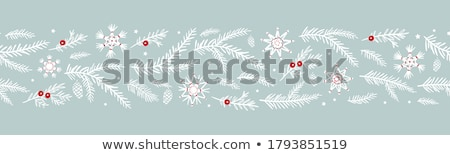 Paper with pinecone horizontal Stock photo © sifis