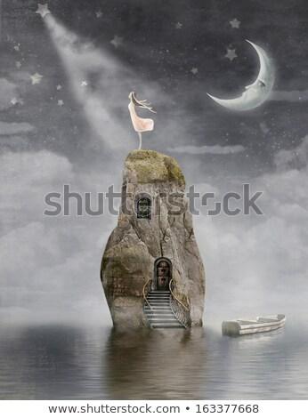 桟橋 · ボート · 低い · 水 · 抽象的な · 背景 - ストックフォト © is2
