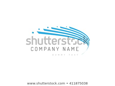 yaratıcı · mavi · soyut · yalıtılmış · logo - stok fotoğraf © studioworkstock