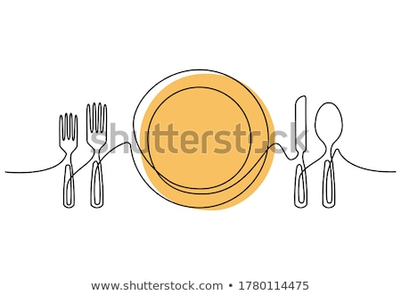 sketch of knife isolated on bright background stock photo © robuart