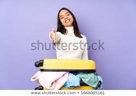 Indian vrouw contract koffer zakenvrouw vol Stockfoto © studioworkstock