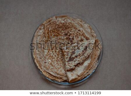 pannenkoeken · boter · ontbijt · cartoon · vers · zoete - stockfoto © adamson