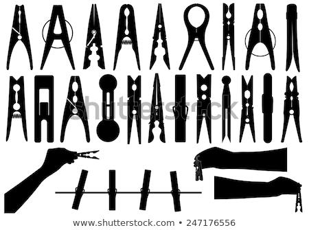 Black and White Clothes pin Stock photo © bobkeenan