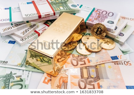 gold bar and cryptocurrency Stock photo © OleksandrO