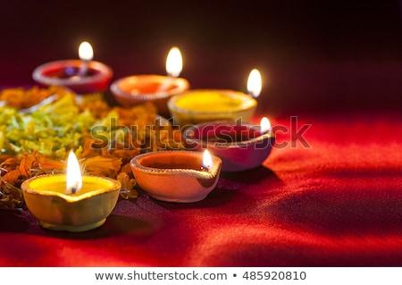 beautiful diwali diya decoration background stock photo © sarts