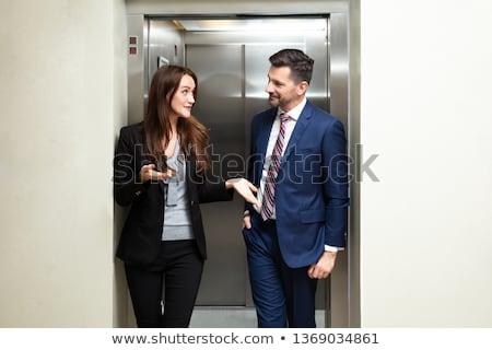男 外に エレベーター 小さな アフリカ 技術 ストックフォト © AndreyPopov