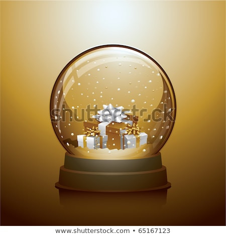 snow globe ball with gift boxes realistic new year chrismas object isolated on transperent backgroun Stock photo © olehsvetiukha