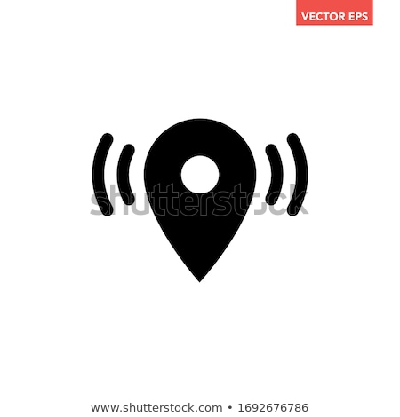 Wifi connection signal icon with map pointer or location in the circle. vector illustration isolated Stock photo © kyryloff