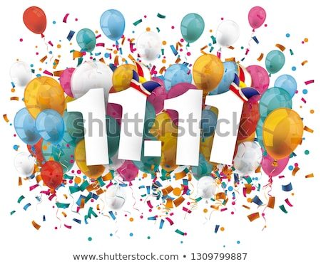 Fasching 11 November Balloons Confetti Stock photo © limbi007