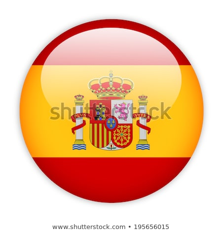 Spain flag on round badge Stock photo © colematt