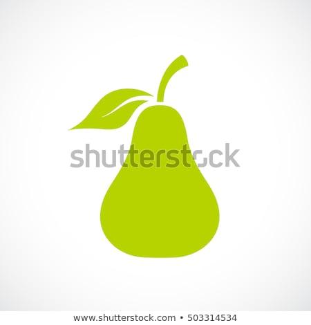 Pera icono símbolo elemento diseno alimentos Foto stock © blaskorizov