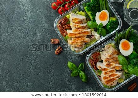 kool · eieren · selectieve · aandacht · vis · achtergrond · taart - stockfoto © tycoon